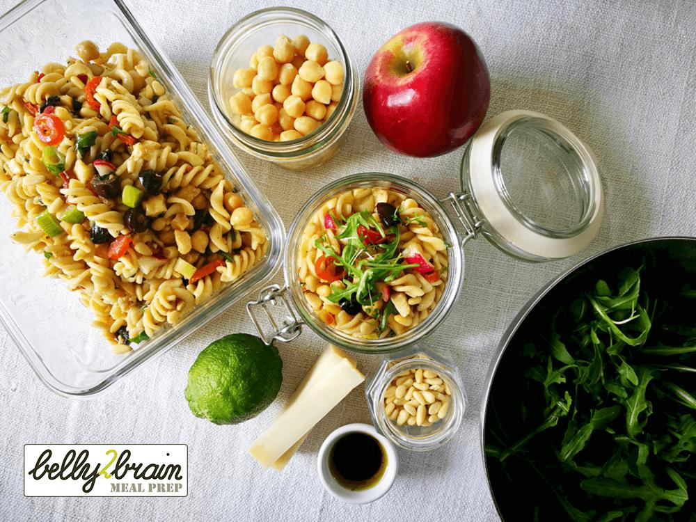 Meal Prep vegetarian pasta salad
