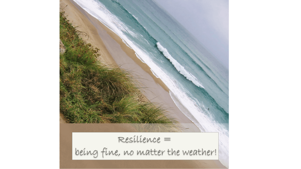 Resilience is being well, no matter the weather